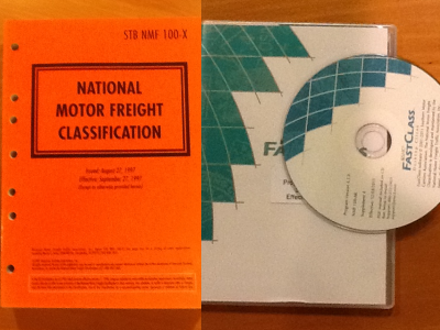 How to determine freight class when shipping machinery for National motor freight classification list
